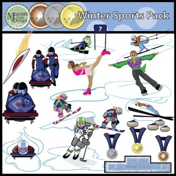 Winter Sports Super Clip Art Pack {Messare Clips and Design}