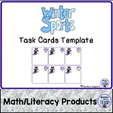 Winter Sports Task Cards Template