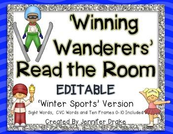 Winter Sports Theme 'Read The Room'  ~EDITABLE~  Words, CV