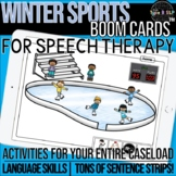 Winter Sports Themed Boom Cards™ for Speech Therapy with S