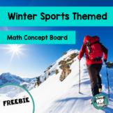 Winter Sports Themed Math Concept Board