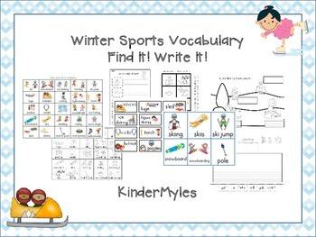 Winter Sports Vocabulary Write It