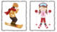 Winter Sports WH Questions & Following Directions Speech (12 Worksheet, 96 Card)