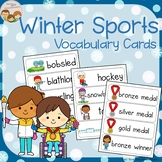Winter Sports and Para Game Vocabulary Cards plus Write an