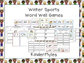 Winter Sports Word Games