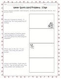 Winter Sports Word Problems: 2 & 3 Digits (Addition & Subtraction)
