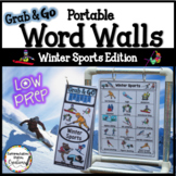 Winter Sports Word Walls: Sports Words, Printables, Thematic Writing Paper