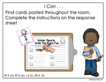 Winter Sports Word Work Stations Galore-Differentiated/Aligned (Editable)