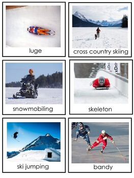 Winter Sports Words