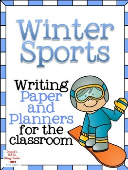 Winter Sports Writing Paper and Planners