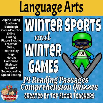 Winter Sports and Winter Games Reading Passages and Quizzes