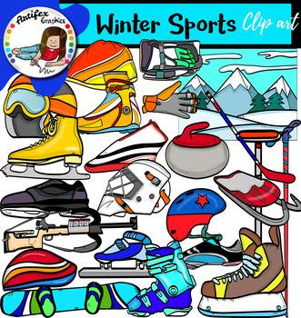 Winter Sports clip art- Big set of 86 graphics!