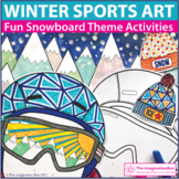 Winter Coloring Pages | Winter Sports Art Activities