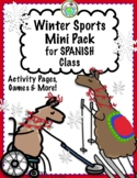 Winter Sports in SPANISH Mini Pack Great to Coordinate with Winter Olympics