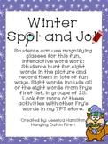 Winter Spot and Jot - Fry Words 1-100