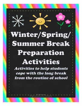 Winter/Spring/Summer Break Preparation: Coping Activities