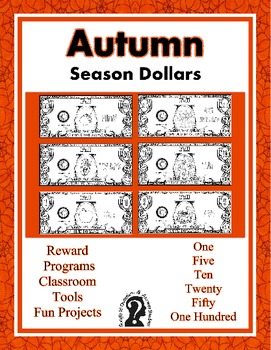 Winter, Spring, Summer and Fall Dollars ~ Money Bundle ~ All Seasons ~ Printable