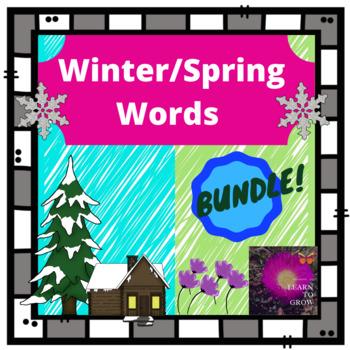 Winter & Spring Words bundle