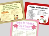 Winter, Spring, and Fall Holiday Super Pack Math and Liter