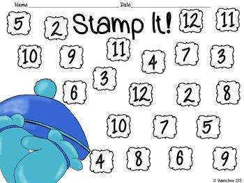 Winter Stamp It! - Addition