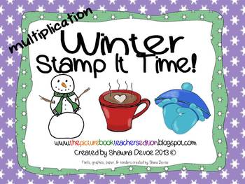 Winter Stamp It! - Multiplication