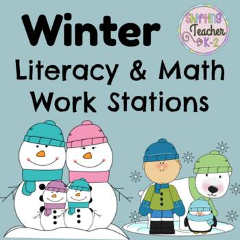 Winter Stations Pack - Math and Literacy