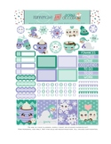 Winter Stickers Planner Printable - Sledding and Snow Printable Stickers