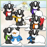 Winter Stinks Clip Art - Skunks Clip Art - Winter Clip Art