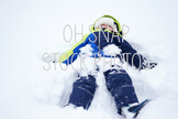 Winter Stock Photo - Snow Angel Stock Photo