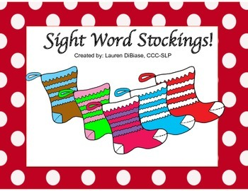 Sight Word Stockings Freebie!
