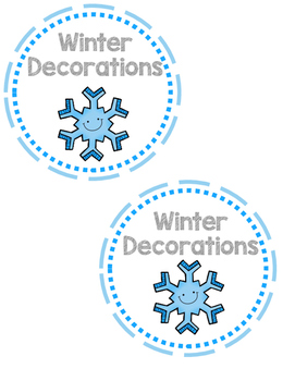 Winter Storage Labels