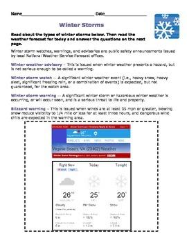 Winter Storm Classification