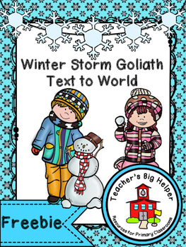 Winter Storm Text to World Freebie