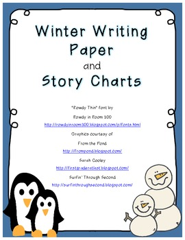 Winter Story Charts and Writing Paper