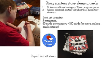 Winter Story Elements Creative Story Starter Writing Prompt Cards