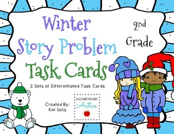 Winter Story Problem Task Cards