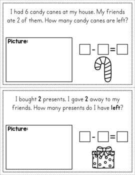 Winter Story Problems - Addition and Subtraction
