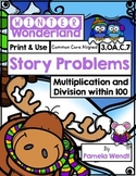Winter Story Problems - Multiplication & Division within 1
