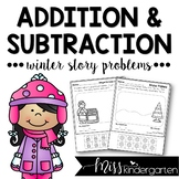 Addition and Subtraction Worksheets {Winter Themed Story P