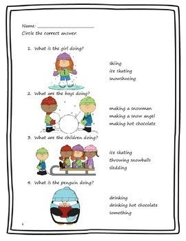 A Winter Story: Reading Comprehension