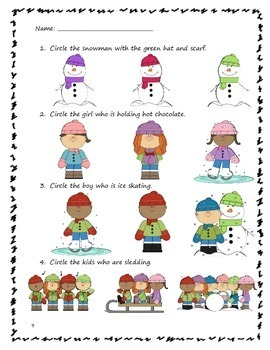 Reading Comprehension: A Winter Story