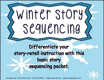 Winter Story Retell and Sequencing