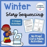 Story Sequencing Cut and Paste Activities Winter