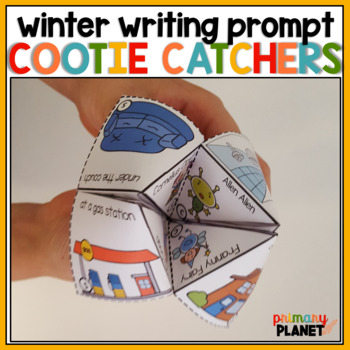 Winter Story Starter Cootie Catchers for Writing Centers and Writing Workshop!