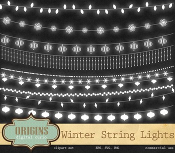 Winter String Lights Clipart