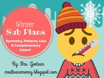 Winter Sub Art Plans! Symmetry, pattern, lines and complementary colors!