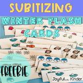 Winter Subitizing Flash Cards-FREEBIE