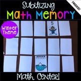 Winter Kindergarten Math Center - Memory