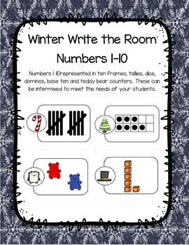 Winter Subitizing Write The Room Numbers 1-10