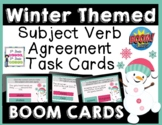 Winter Subject Verb Agreement BOOM Task Cards
